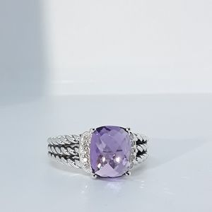 DAVID YURMAN PETITE WHEATON AMETHYST RING